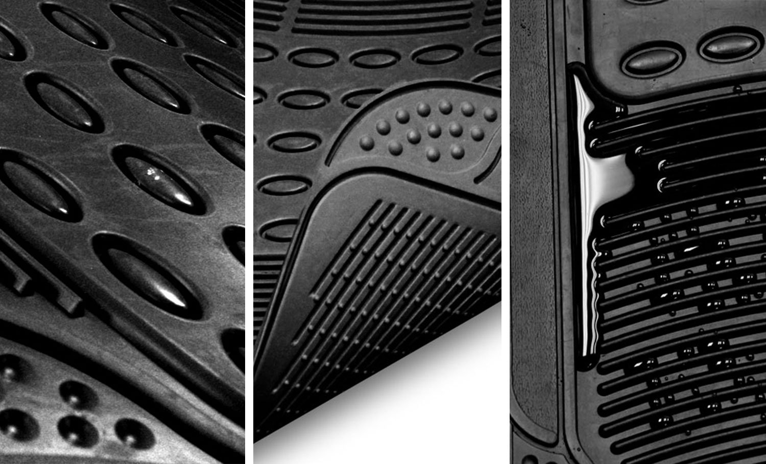 FH GROUP F11306-3ROW Quality All Weather Rubber Auto Floor Mats Liner - Gray by FH Group (Image #4)