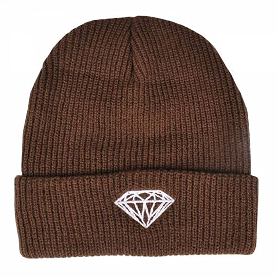 c33a95e8a59 Amazon.com  Diamond Brilliant Fold Beanie (one Size fits All