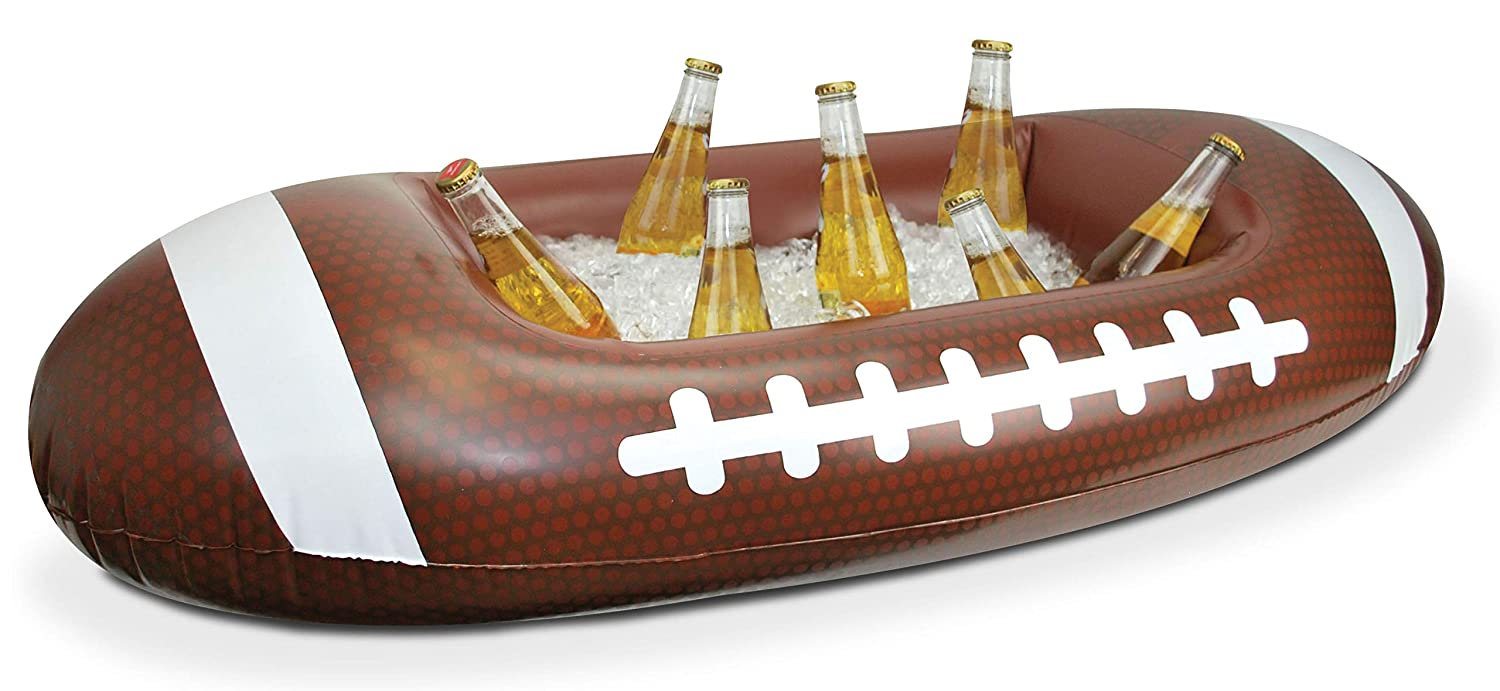 Football Inflatable Cooler, 3.5 Foot Long Tailgating Cooler