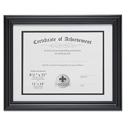 Amazon Lawrence Frames Dual Use 11 By 14 Inch Certificate