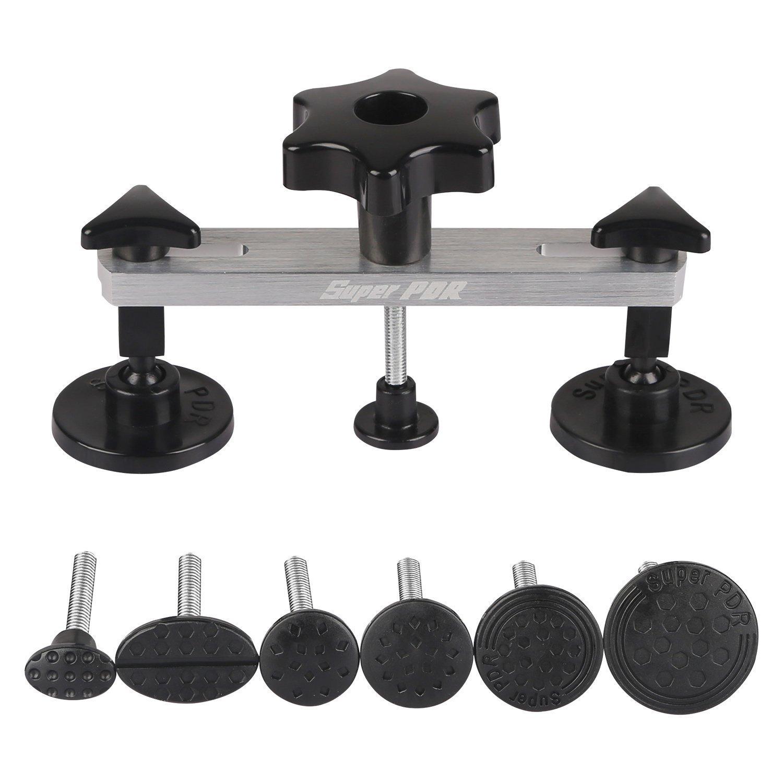FLY5D® DIY Car Body Dent Removal Repair Tool Kits New Design Bridge Glue Puller Dent & Ding Car Auto Damage Repair Puller Tool Kits (Black)