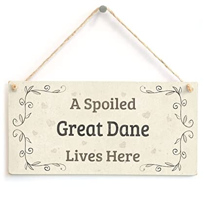 Home Decor Sweet Fun Home Accessory Gift Sign For Dog Owners 10x5 Meijiafei Pampered Dogs Live Here