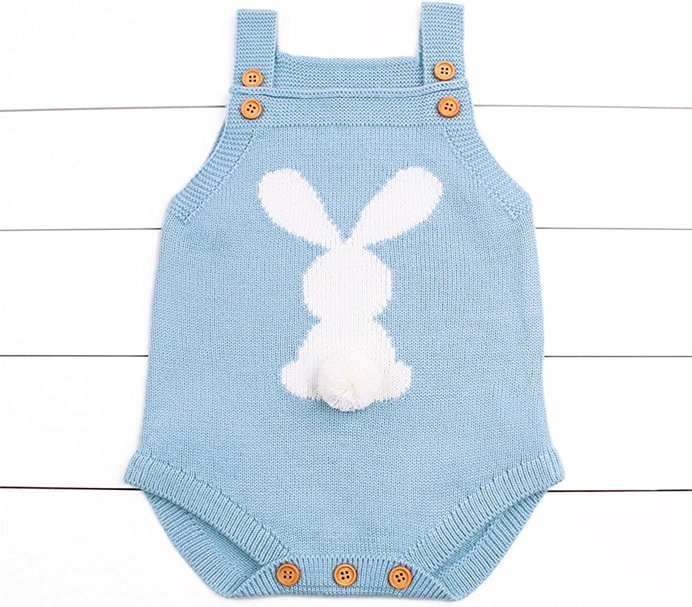 Unisex-Baby Bodysuit Infant//Toddler Knitwear 3D Cute Rabbit Tanks Top for Infant
