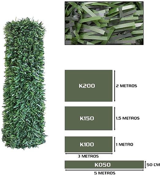 Seto Decor K050B Seto Artificial Decorativo de Hoja Normal de 0, 5 x 5 Metros, Color Verde: Amazon.es: Jardín