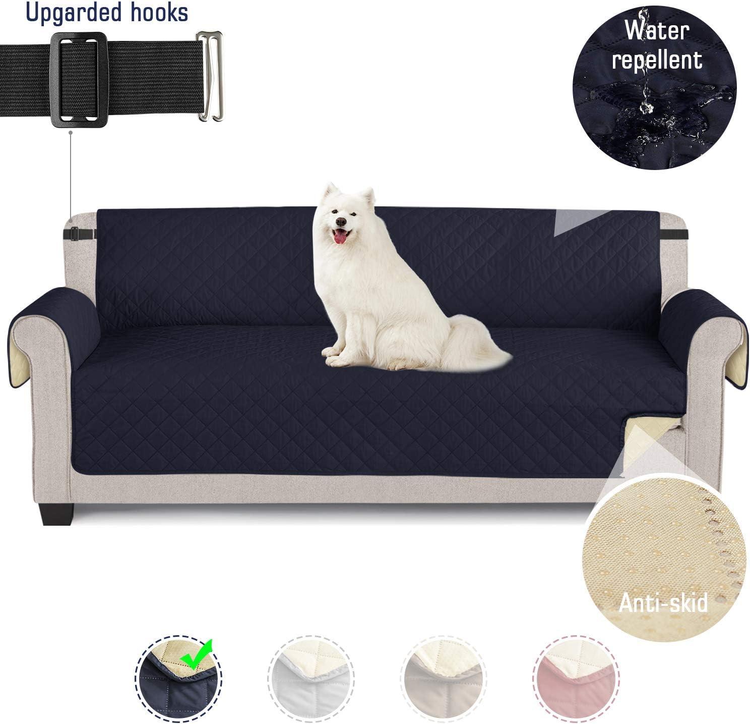 TAOCOCO Funda de sofá Impermeable Funda de cojín de protección para Mascotas Funda de sofá antisuciedad (Azul/ 4 Plazas 195 * 218cm)