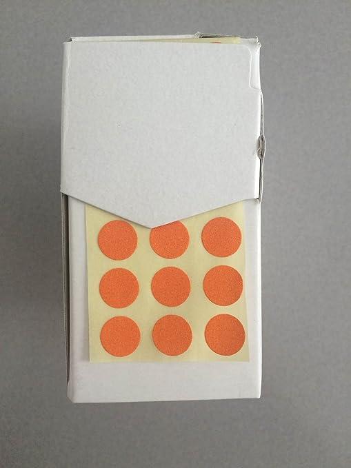 10 colore nero Bollini segnafalli in carta adesiva mm