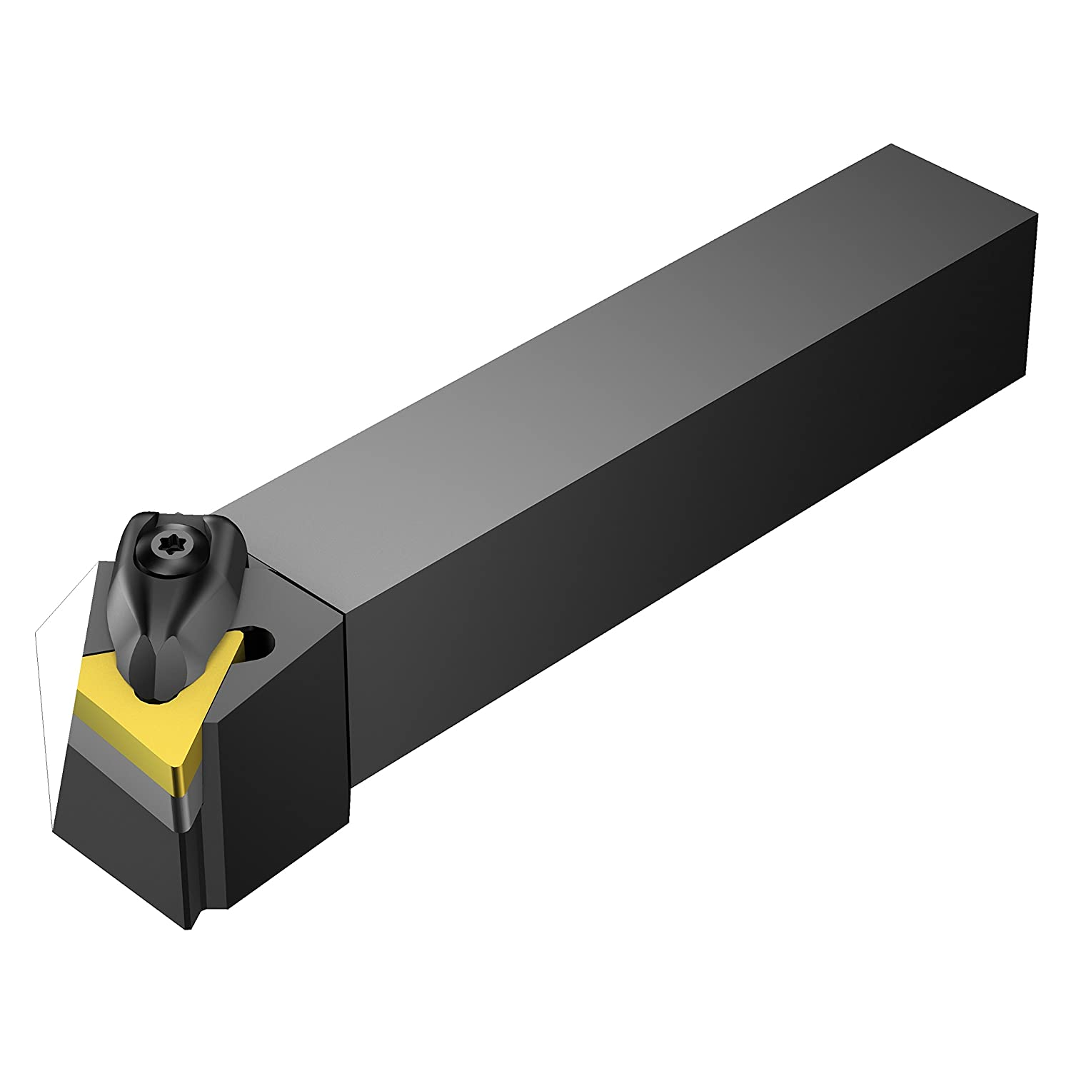 Radially Turning Insert Holder 150mm Length x 32mm Width Sandvik Coromant DTFNL 2525M 16 Facing Left Hand External Rigid Clamp Square Shank 25mm Width x 25mm Height Shank TNMG 332 Insert Size Steel Turning toward center