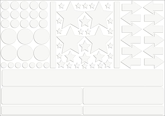... color blanco/plata, Reflex _ 003 _ blanco/plata, Arco tamaño: 30 x 20 cm, Reflexion, leuc htauf adhesivo, adhesivo para Bike, Casco, Auto, seguridad ...