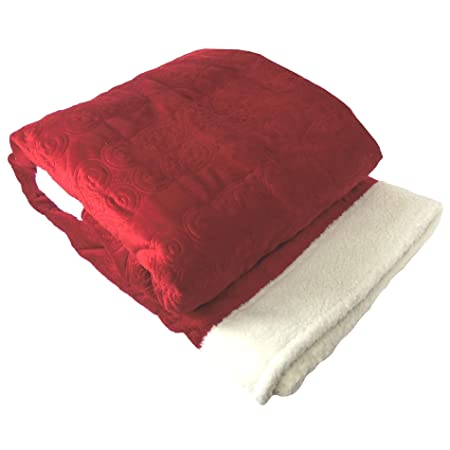 Home Soft Things BOON Embroidery Microplush Sherpa Bed Couch Throw Blanket c1035bf99