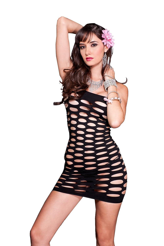 Music Legs womens Seamless Pothole Tube Mini Dress Hot Pink One Size 6158