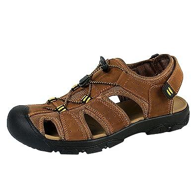 Herren Sandalen Outdoor Freizeit Wanderschuhe Baotou Sports Sandalen Wandern Sandalen