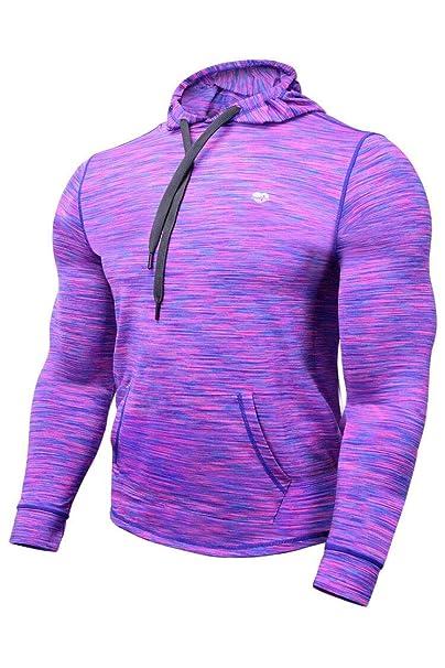 Zengjo Tech Hoodie Wicked Pullover Train Hoodie Men Space Dye Long Sleeve  Hooded Shirt