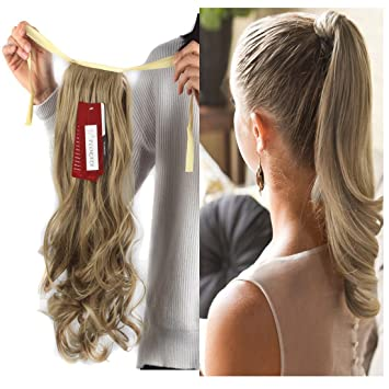 Amazon haironline one piece tie up ponytail clip in hair haironline one piece tie up ponytail clip in hair extensions hairpiece binding pony tail extension for pmusecretfo Images