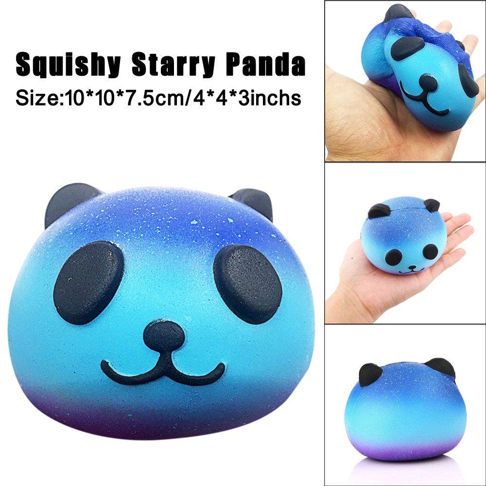 Jinjin Starry Cute Panda Baby,Cream Scented Squishy Slow Rising Squeeze Kids Toy (AS Show)