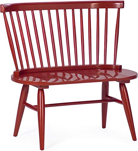 Red Modern Farmhouse Rustic Living Cottage Entryway Wood Bench Seat Furnitur
