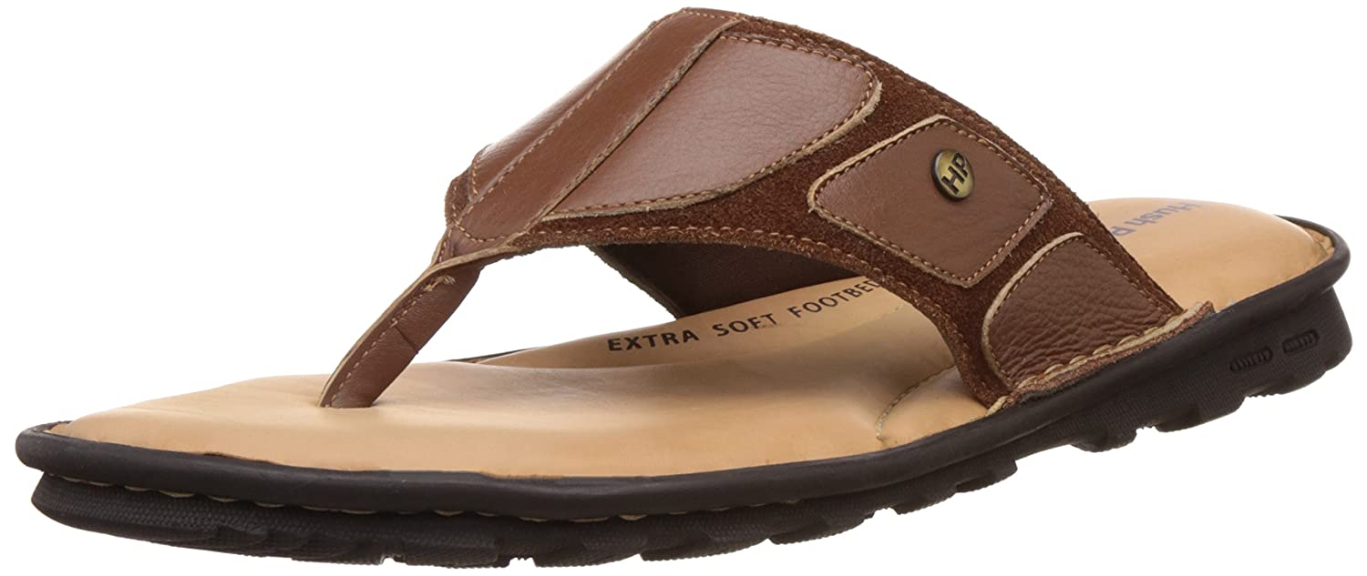8b22132ca9 Hush Puppies Men s Rebound Thong Leather Flip Flops Thong Sandals  Buy  Online at Low Prices in India - Amazon.in