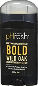 HONESTLY PHRESH Wild Oak Stick Deodorant Men, 0.02 Pound