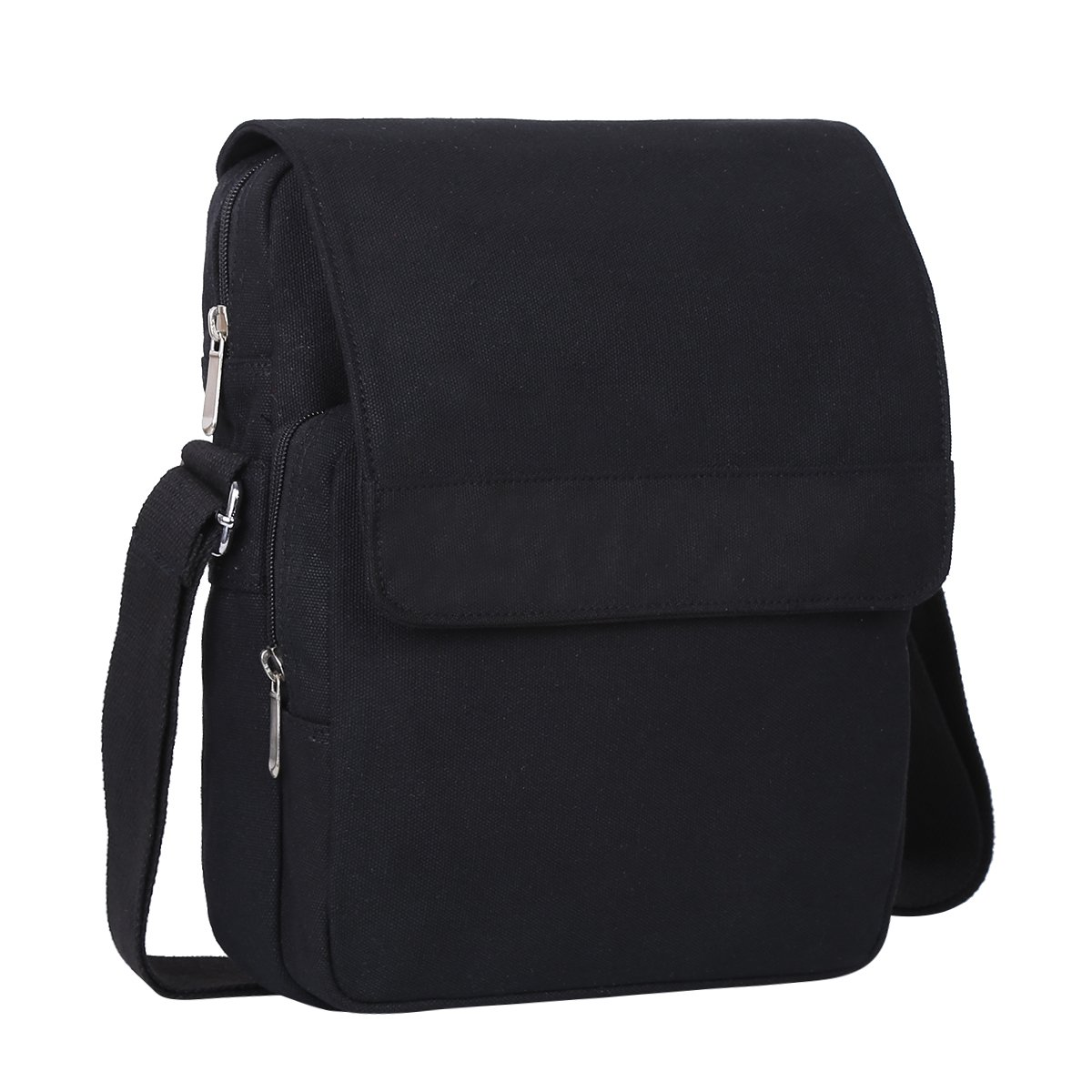 Eshow Mens Canvas Shoulder Bag Messenger Bag Chest Bag Fanny Purse Crossbody Bag for Men Satchel Travel Bag School bags