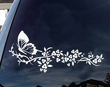 Amazoncom Flower And Butterfly Beautiful Nature Decal Stickers - Car window stickers amazon