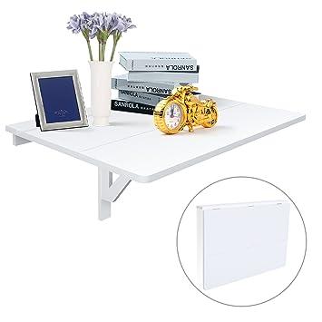 Wandklapptisch bauanleitung  HOMFA Wandtisch Wandklapptisch 80x60cm Küchentisch Klapptisch ...
