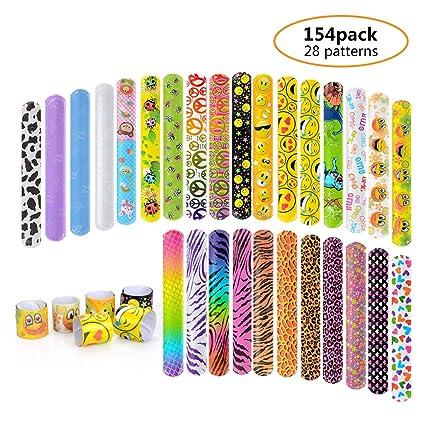 Amazon.com: 154 pulseras de diapositivas para fiestas ...