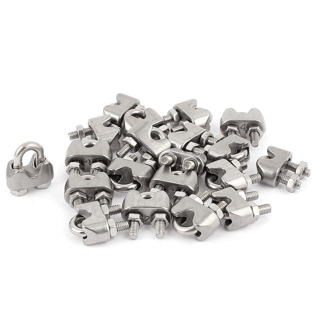 Sourcingmap® - Abrazaderas de cable de acero inoxidable de 4 ...