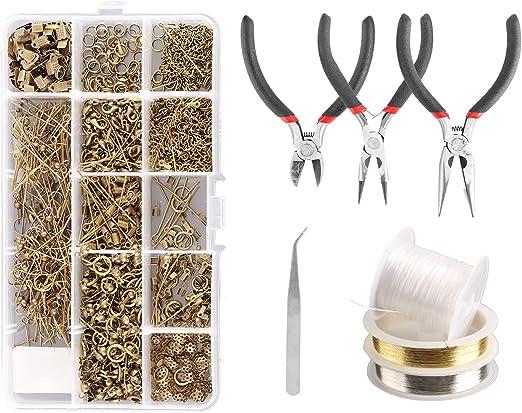 Jewelry Making Starter Kit Set Earring Bracelet Necklace Making Findings DIY