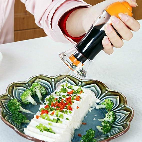1 juego de 3 piezas aceite de oliva pulverizador dispensador gatillo vinagre aerosol botella cocina a prueba de fugas riego puede salsa de soja fresco ...