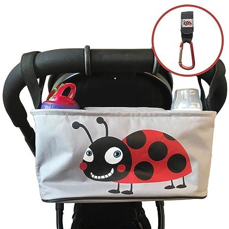Cochecito de bebé organizador Pram Buggy Bag – con tapa Universal Fit para bebé carritos para