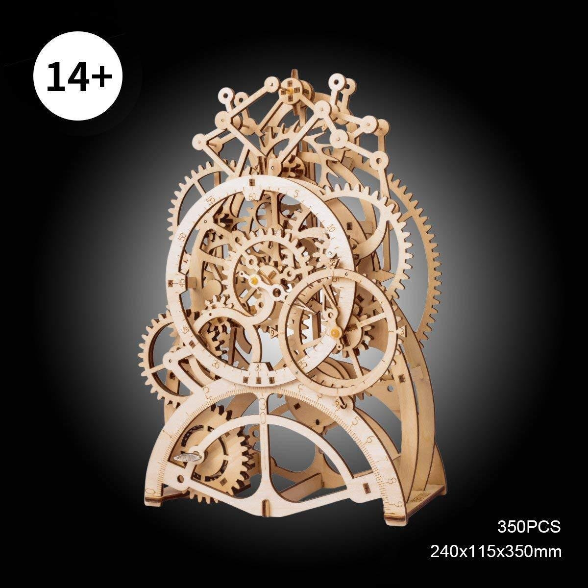 ROKR 3D Wooden Perpetual Calendar Puzzle,Mechanical Gears Toy Building Set,Brain Teaser Games,Engineering Toys,Family Wooden Craft KIT Supplies-Great Birthday Boyfriend Father Adult
