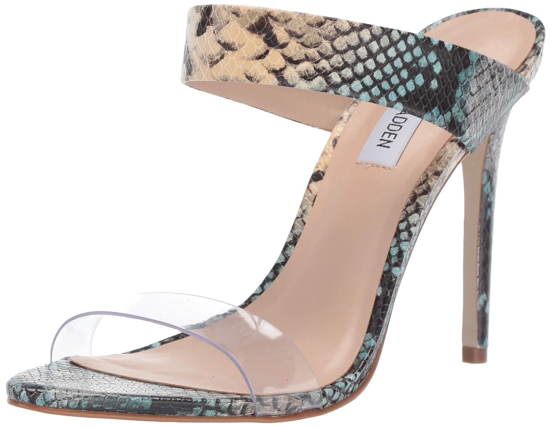 bluee Snake Steve Madden Womens Amaya Heeled Sandal