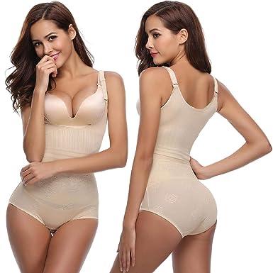 Abollria Damen Shapewear Body Stark Figurformend Mederhose Body