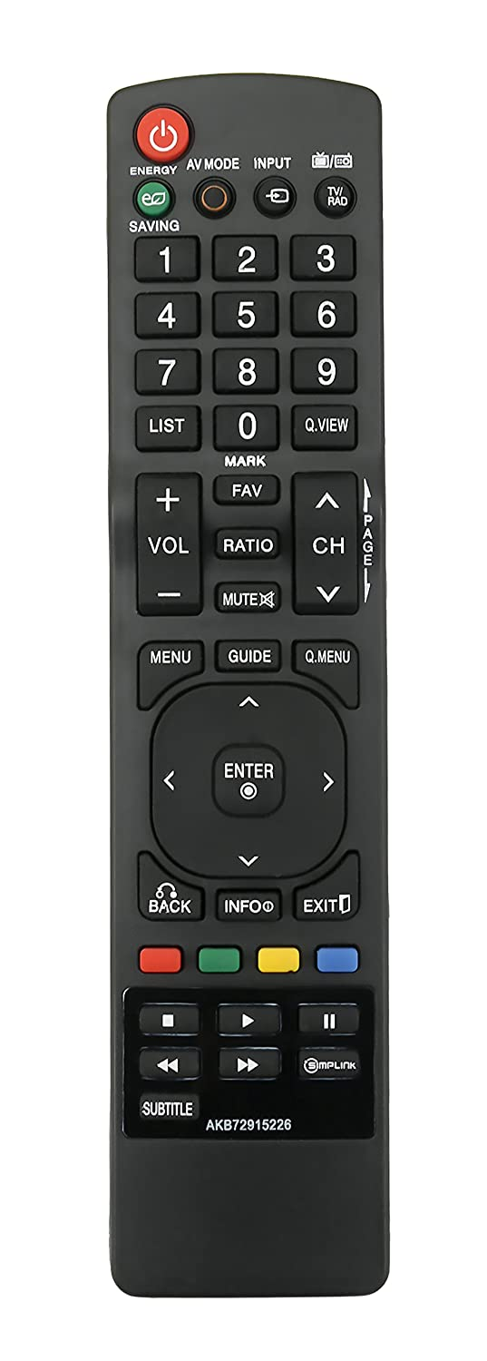 New AKB72915226 Replace Remote fit for LG TV 47LE5510 47LD650 37LM6200 50PV400 50PK550 32LM6200 MKJ40653805 32LG60UR 42LG60FR 42LG60F 47LG60FR LN46A650A1H 32LG60UR 32LE4500 42PJ550 22LD350 42LE4500 VINABTY factory