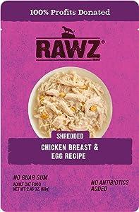 Rawz Shredded Chicken Breast & Egg Recipe 8/2.46 oz Pouches