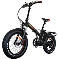 Addmotor MOTAN Folding Electric Bike 750W 20 Inch Fat Tire Electric Bicycle 48V 11.6Ah Lithium Battery Snow Beach Pedal Assist Front Fork Suspension M-150 Platinum 2018 Ebike for Adults