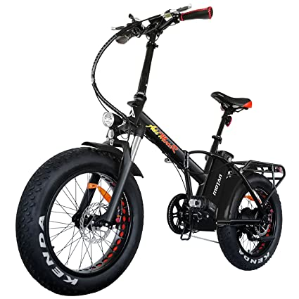 4433791a736 Addmotor MOTAN Folding Electric Bike 750W 20 Inch Fat Tire Electric Bicycle  48V 11.6Ah Lithium Battery Snow Beach Pedal Assist Front Fork Suspension  M-150 ...