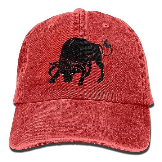 Adult Unisex Cotton Jeans Cap Old-Fashion Adjustable Hat Taurus ... 07f77052124