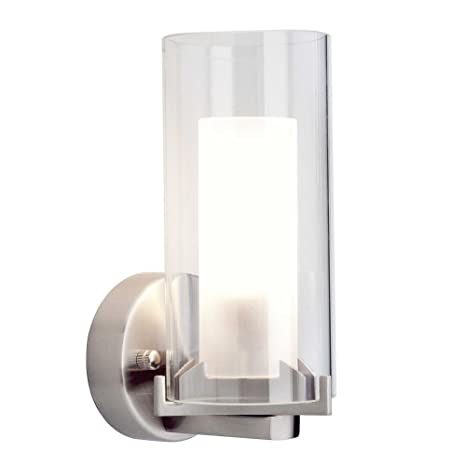 online store 24db1 ae85e Adrano Wall Light Satin Chrome: Amazon.co.uk: Lighting