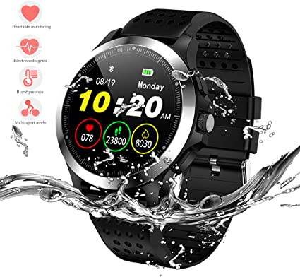 HERCINY Sport Smart Watch for Men, Fitness Tracker, IP67 Waterproof Smartwatch with ECG+PPG Heart Rate Blood Pressure Sleep Monitor, 9 Sports Modes, ...