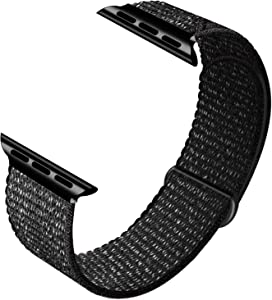 GZ GZHISY Sport Band Compatible with Apple Watch Band 38mm 40mm 42mm 44mm, Soft Breathable Sport Loop Band Replacement Band Compatible for iWatch Series SE/6/5/4/3/2/1