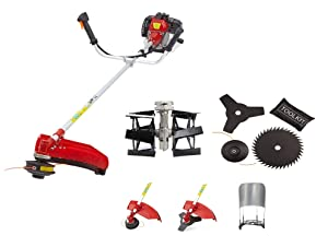 Boston Metal and Fiber Petrol Brush Cutter with Tiller and Paddy Attachments (Multicolour, Brush_Cutter_1)