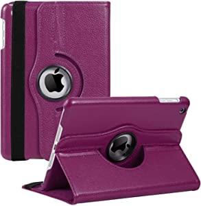 iPad Mini 1/2/3 Case - 360 Degree Rotating Stand Smart Cover Case with Auto Sleep/Wake Feature for Apple iPad Mini 1 / iPad Mini 2 / iPad Mini 3 (Purple) …