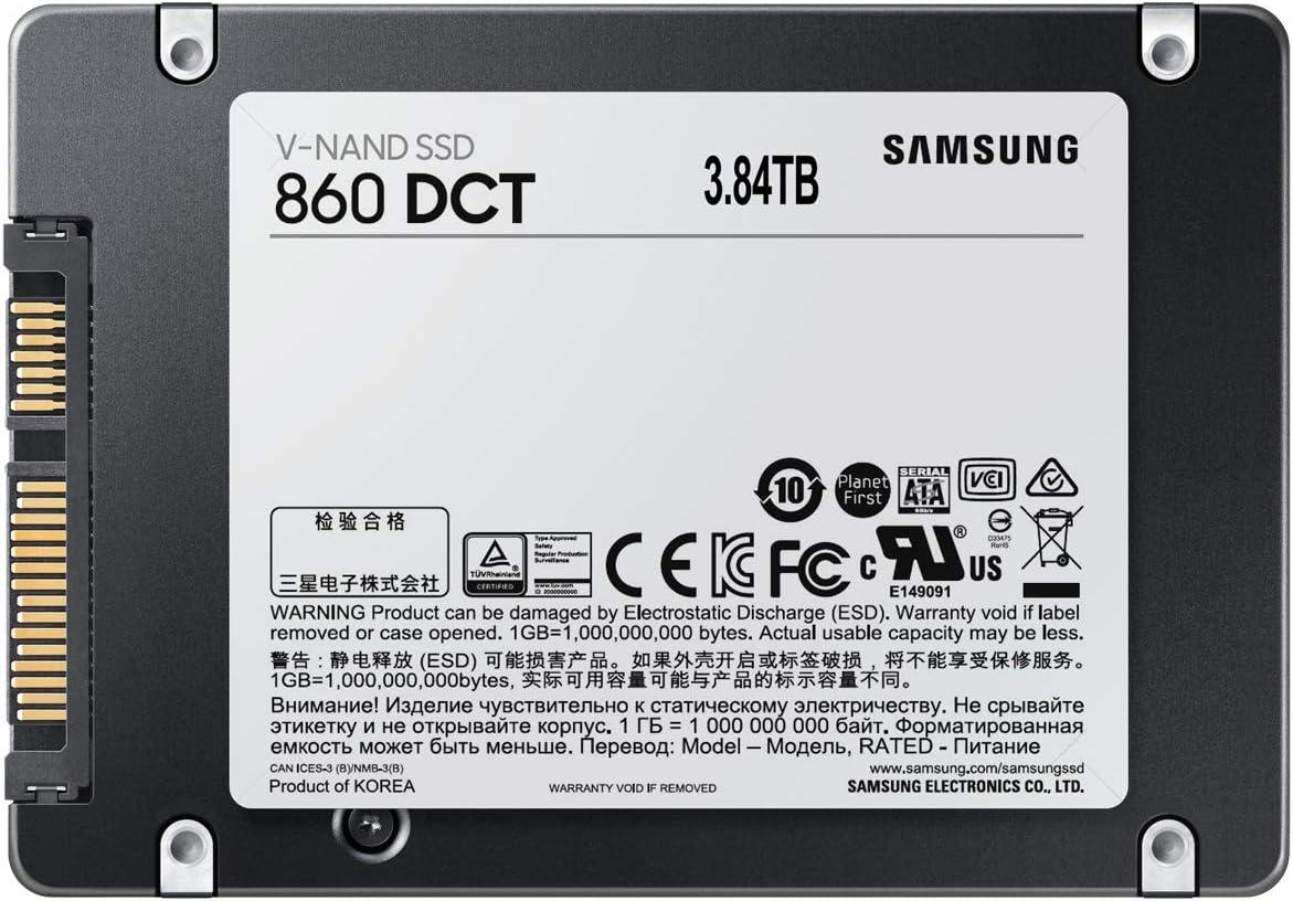 Samsung 860 DCT Series -3.84TB SATA 2.5