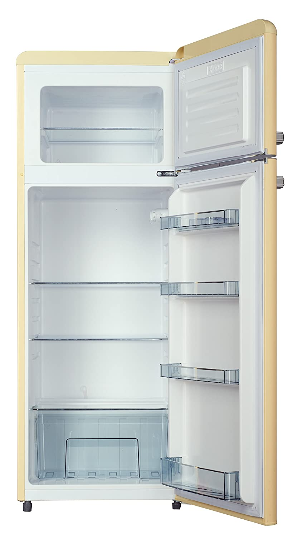 Kühlschrank mit Gefrierfach Retro KG166-40 Creme A++: Amazon.de ...
