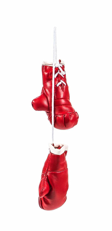 Mini Boxhandschuhe, witzig-sportliche Dekoration, Rü ckspiegel im Auto, Kunstleder, schlicht, Grö ß e ca. 8,5 cm, lieferbar in den Farben Schwarz oder Rot (Schwarz) ALL Ride