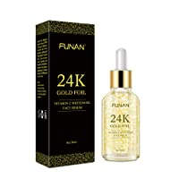 24K Gold Face Serum, Anti-Aging Skin Repair, Topical Facial Serum with Vitamin C, Helps with Moisture, Firm and Whitening Skin (1 FL OZ)