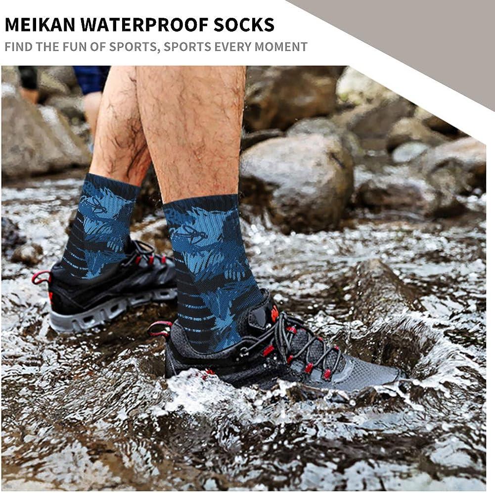 MEIKAN 100/% Waterproof Socks Unisex Breathable Hiking Trekking Ski Wading Socks