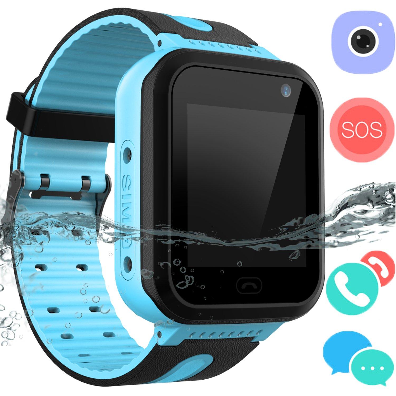 Kids Waterproof Smart Watch Phone – Boys & Girls IP67 Waterproof Smartwatch with Phone SOS Camera Flashlight Games Sports Watches Halloween Thanksgiving Gifts