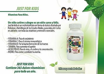 Vitaminas y Minerales para el crecimiento, memoria y apetito en forma de dulce para niños de 4 años en adelante.