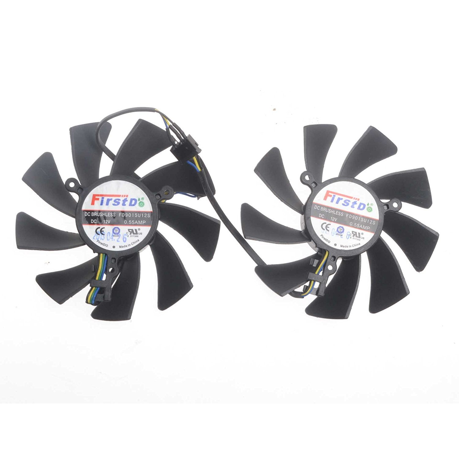 FD9015U12S 12V 0.55A 75mm 4 Pin Replacement Cooling Fan For HD7950 HD7970 Graphics Card Fan